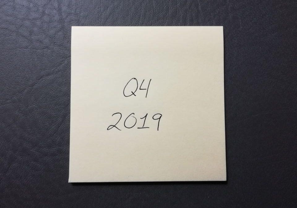Q4 2019 Sticky Note